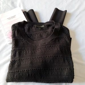 Banana republic knitted long sleeve black top